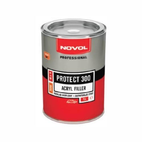 NOVOL 37051 Грунт акріловый PROTECT 300,  4+1, 1 л, червоний