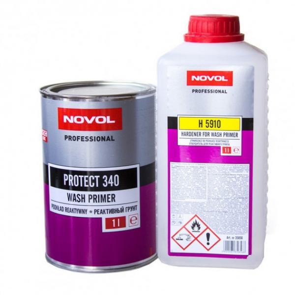 NOVOL 37211 PROTECT 340 Реактивний грунт WASHPRIMER , 1 л