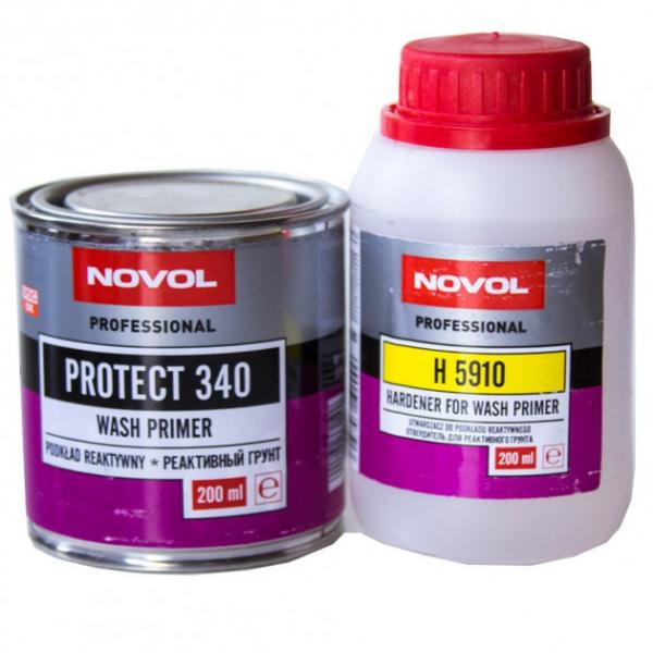 NOVOL 37219 PROTECT 340 Реактивный грунт WASHPRIMER 1+1 0,2 л+0,2 л c отвердителем