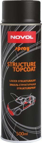 NOVOL 34502 SPRAY STRUCTURE  TOPCOAT 500 ml Структурний лак чорний 1К