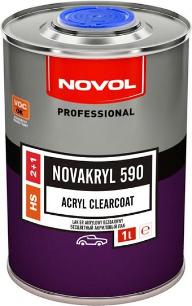 NOVOL 38091 Безкольоровий акріловий лак 590 HS 2+1 Novakryl  1 л (з керамічними добавками)