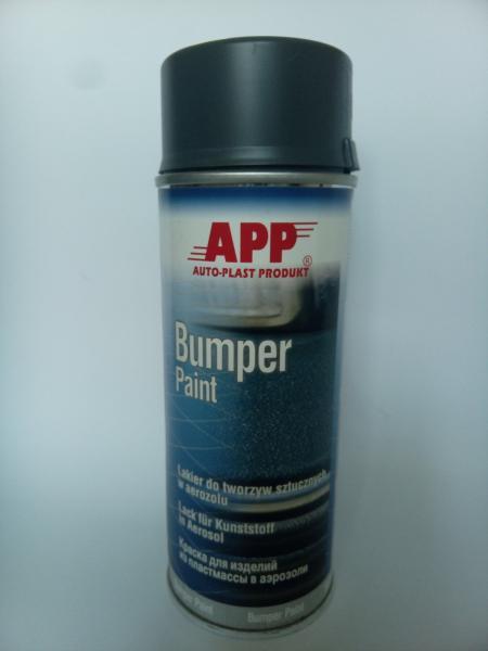 APP Фарба для бампера в аерозолі сіра 400 мл