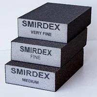 SMIRDEX Губка шліфувальна надтонка 4-бічна100х70х25 мм