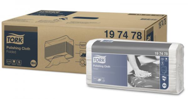 TORK PREMIUM Нетканый безворсовый матер. для полировки в салфетках 35,5х42,8см 125 листов