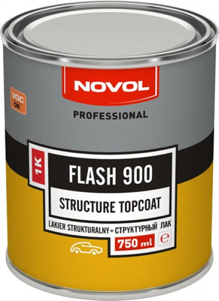 NOVOL 31006 Flash 900 Структурний лак 1К чорний 0,75 л