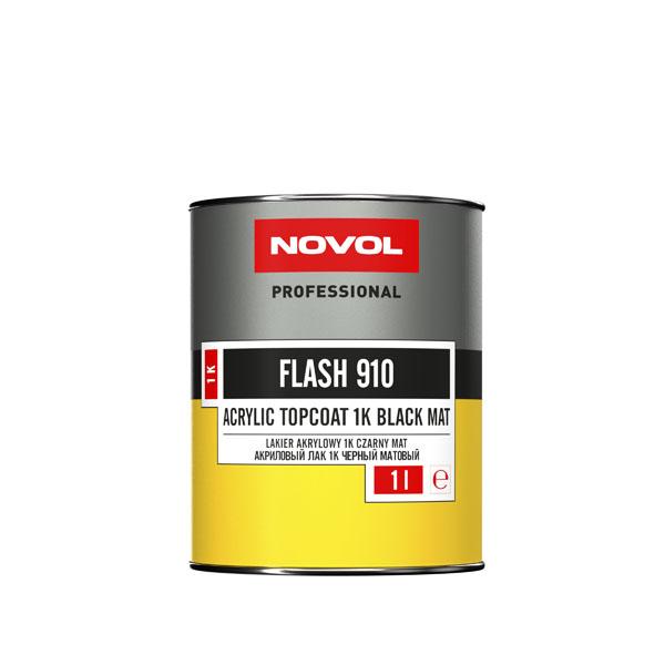 NOVOL 32001 Flash 910 Акриловая эмаль черный мат 1 л