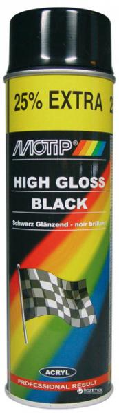 MOTIP 604005 автоемаль аерозольна універсальна акрілова чорна глянцева Special Edition 500 мл
